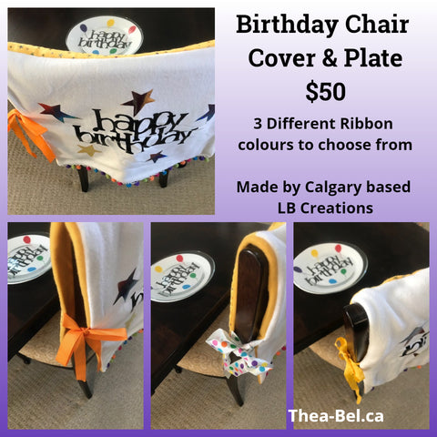 Birthday Package - Chair Cover with Birthday Plate