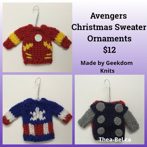 Avengers Mini Christmas Sweater Ornaments - Various Options