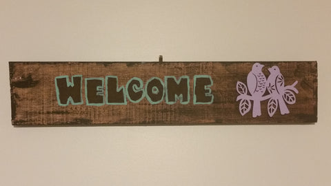 """Welcome"" Wall Sign - Leaving Website soon"