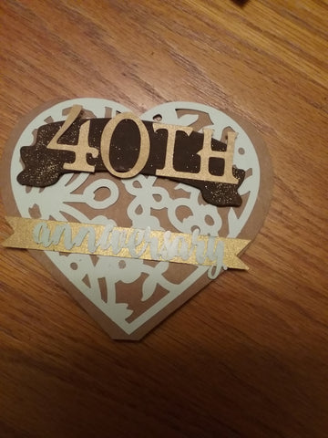 40th Anniversary Card - Heart