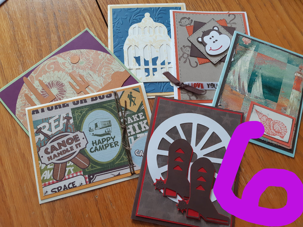 Up-cycled Card Packs (5-6 Cards)