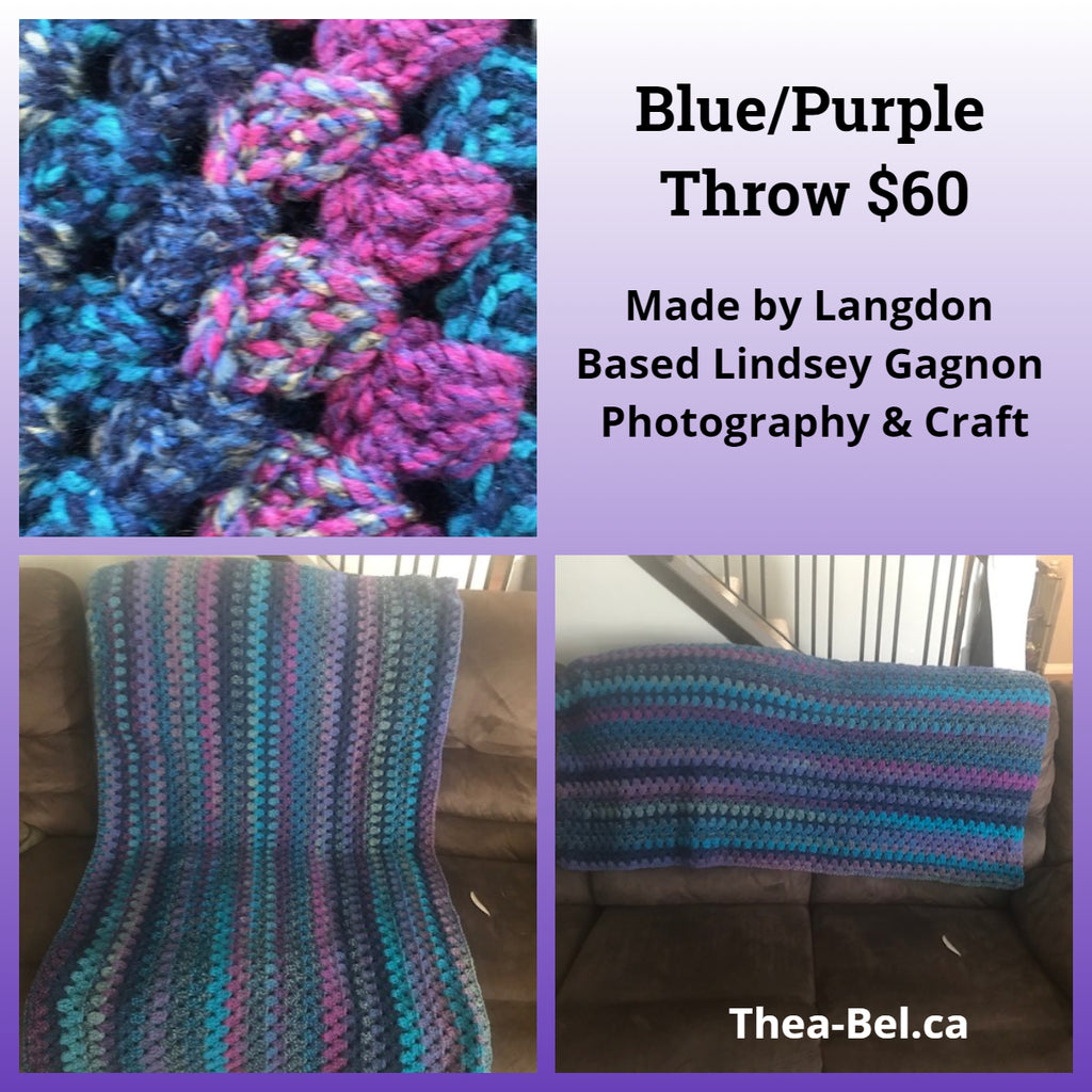 Blue/Purple Throw