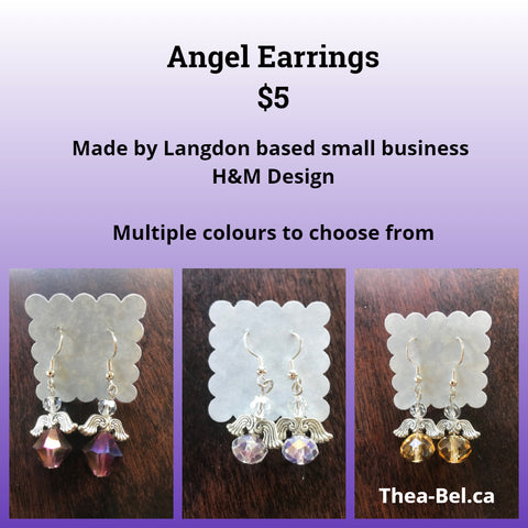 Angel Earrings - multiple colours to choose from