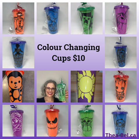 Colour Changing Cups - Multiple Patterns