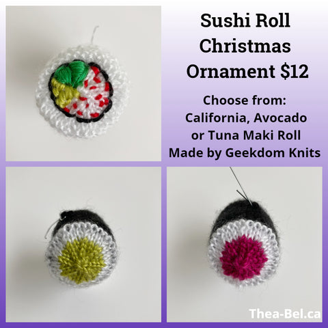 Sushi Roll Christmas Ornament