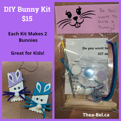 Bunny DIY Kit (Virtual Event March 28, 2021 for those who are interested)