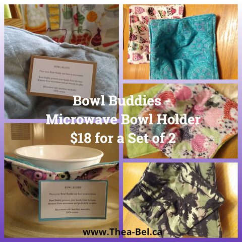 Bowl Buddy - Microwave Bowl Holder (multiple patterns)
