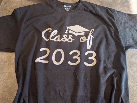 Made To Order Class of Shirt With Graduation Year