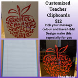 Made To Order Teacher Clipboards