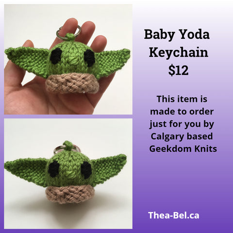 Made to Order: Baby Yoda Keychain