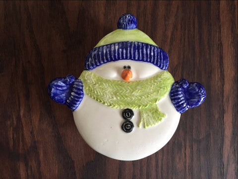 Snowman Dish with Lid