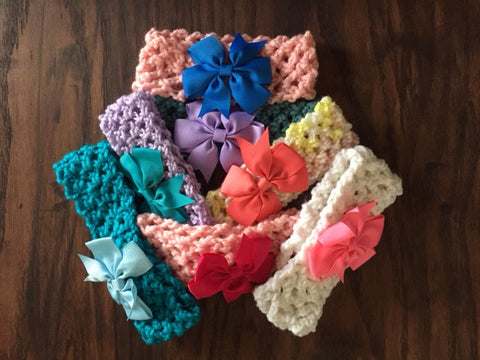 Child Crocheted Headband - lots of colours