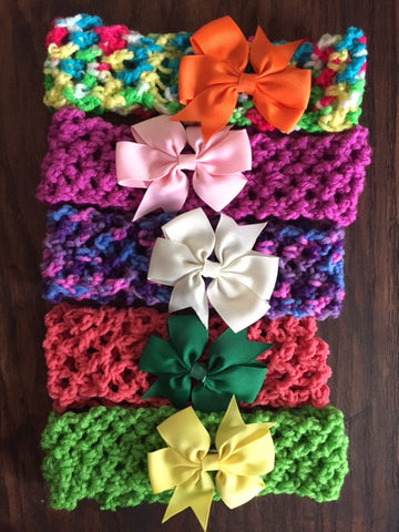 Adult Crocheted Headband - lots of colours