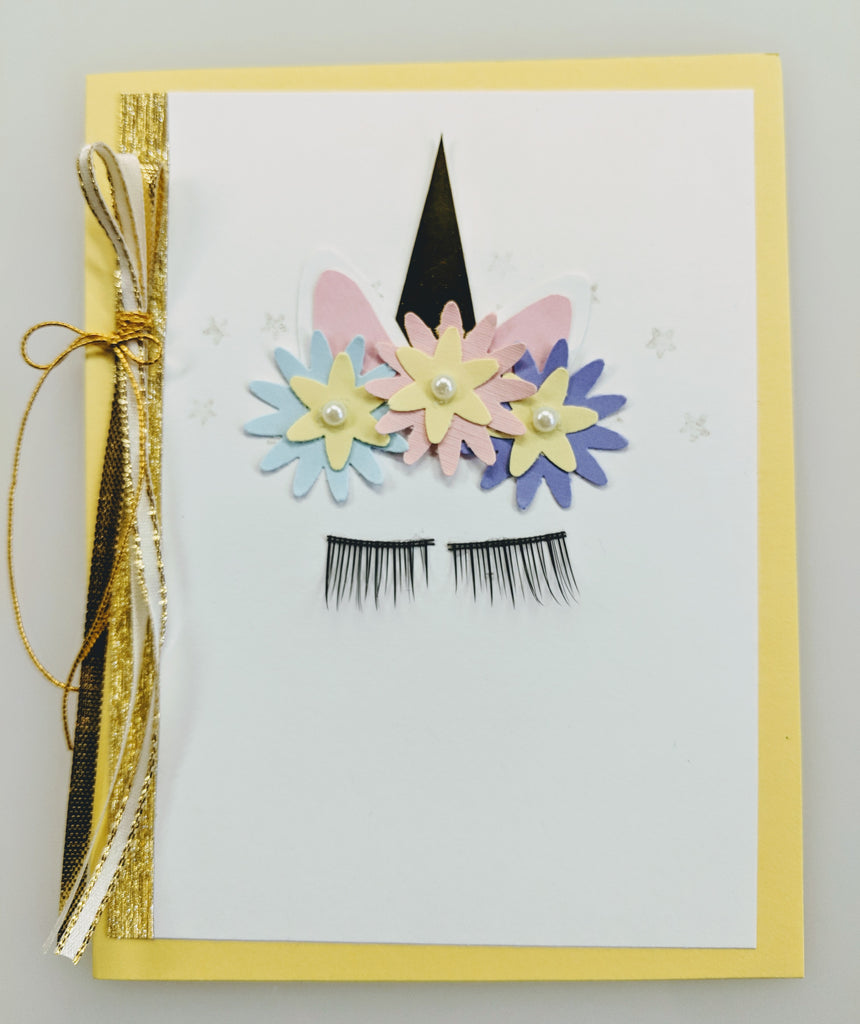Unicorn Card - Yellow