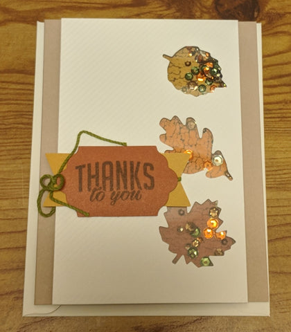 Thanks to You, Sequins Card