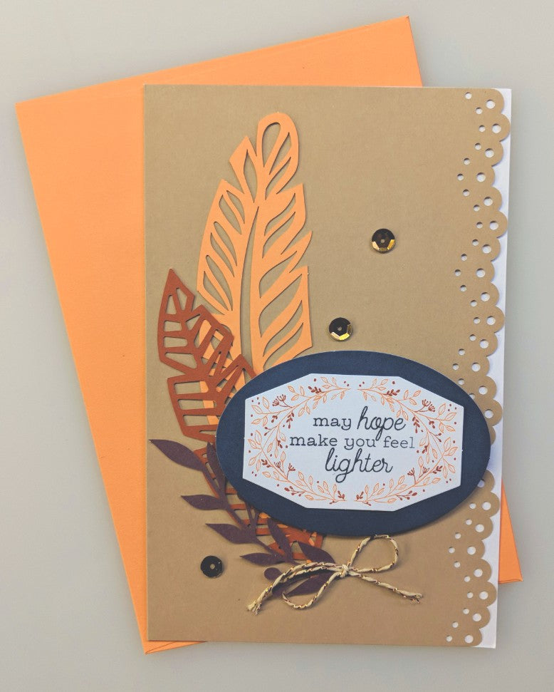 Feather Card - May Hope Make You Feel Lighter