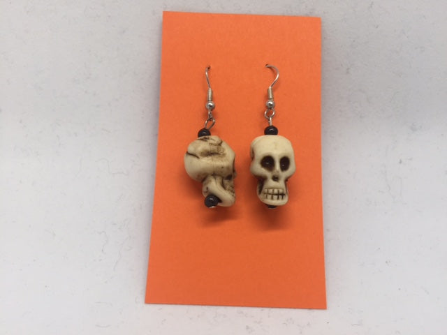 Skull Bead Earrings
