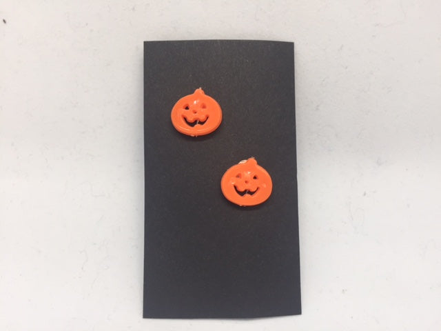 Pumpkin Button Earrings