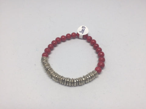 Red and Silver Bracelet - Last Chance
