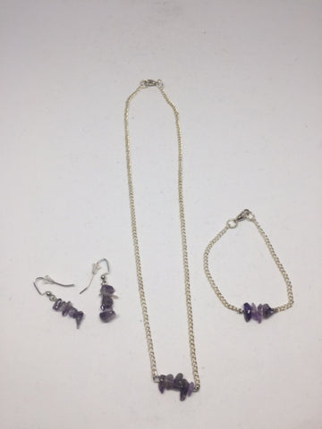 Amethyst Jewelry Set