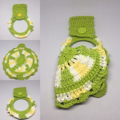 Green / Yellow Hanger & Dish Cloth Set (2 pieces) - Leaving Website Soon