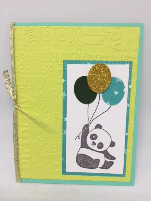 Panda Balloon Birthday Card