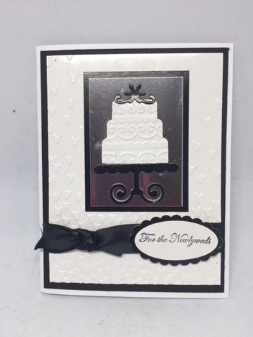 For the Newlyweds Cake Wedding Card