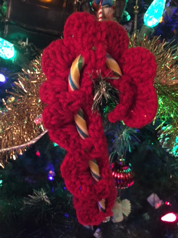 Candy Cane Christmas Ornament - Green, White or Red (Leaving Website Soon)