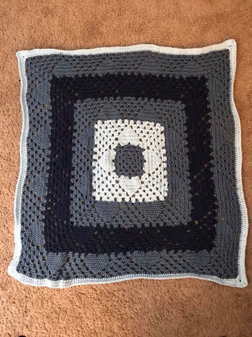 Baby Blanket - Blue Heart
