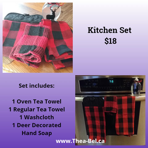 Plaid Kitchen Set