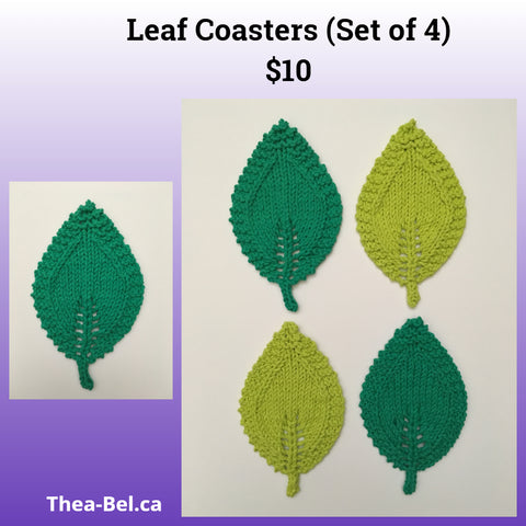Leaf Coasters (Set of 4)