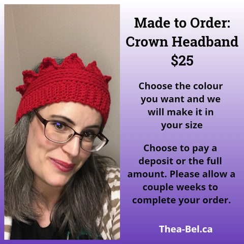 Made to Order Crown Headband
