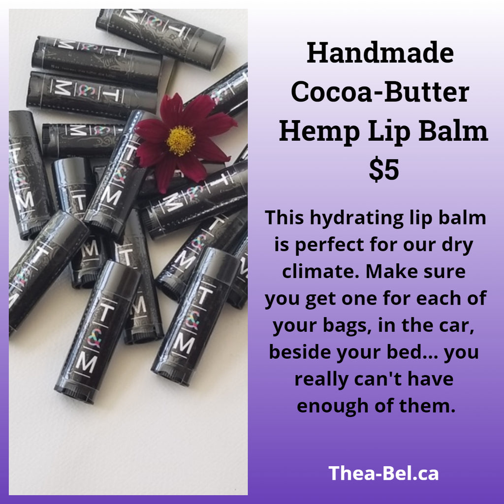 Hand made Cocoa-Butter Hemp Lip Balm