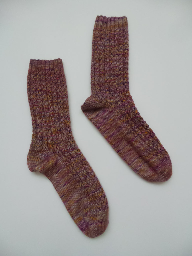 Hand Knit Cabled Socks (size 8)