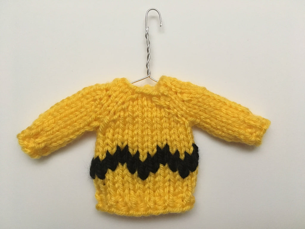 Mini Christmas Sweater Ornament - Charlie Brown