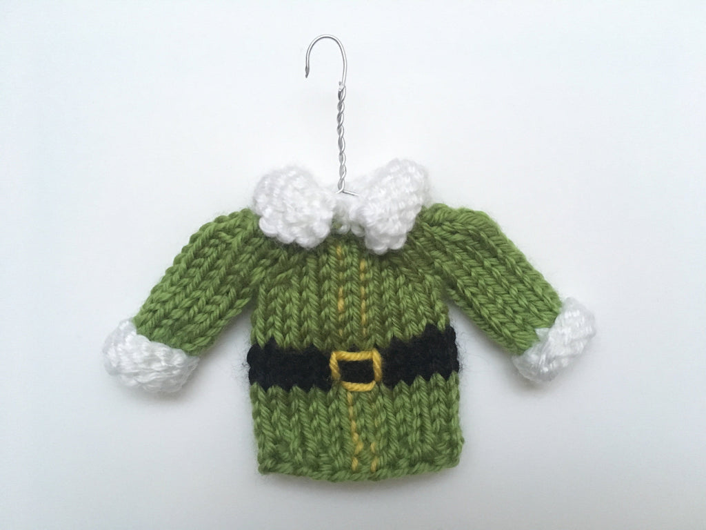 Mini Christmas Sweater Ornament - Elf