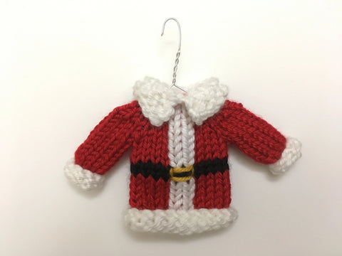 Mini Christmas Sweater Ornament - Santa