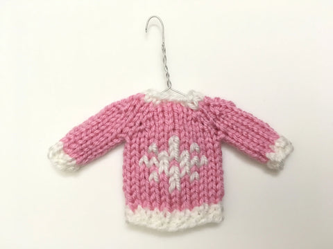 Mini Christmas Sweater Ornament - Snowflake