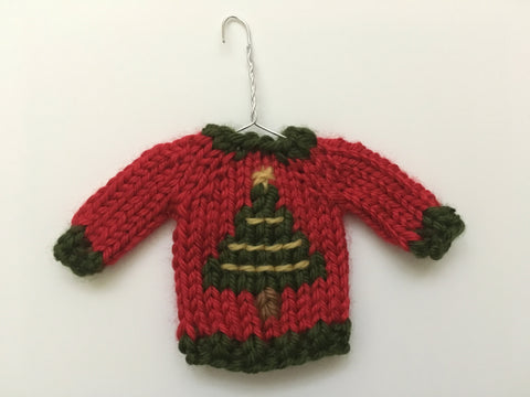 Mini Christmas Sweater Ornament - Christmas Tree