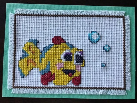 Fish Cross Stitch Card