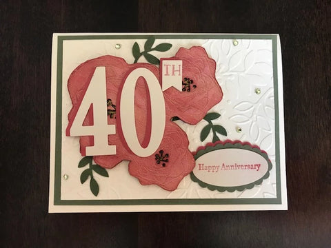 40th Anniversary Card - Flowers