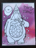 Birthday Cards - To Be Coloured, 10 designs to choose from