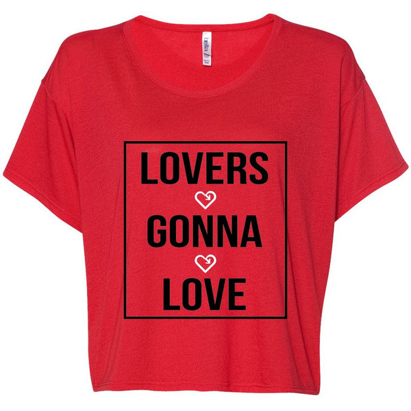 iLove Lovers Gonna Love Flowy Tee - Red