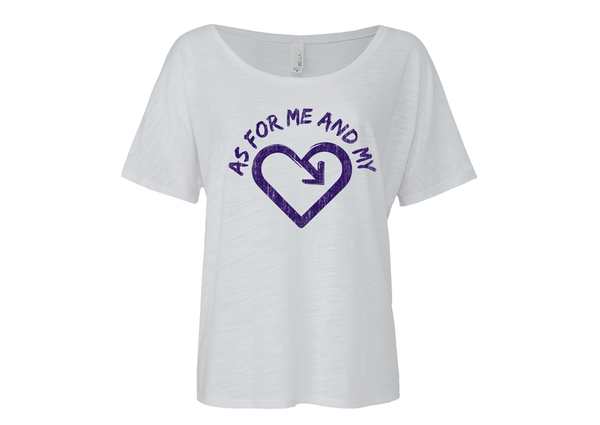 iLove As For Me and My Heart Scoop neck Tee - White