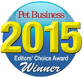 2015 Editors Choice Award Winner from Pet Business
