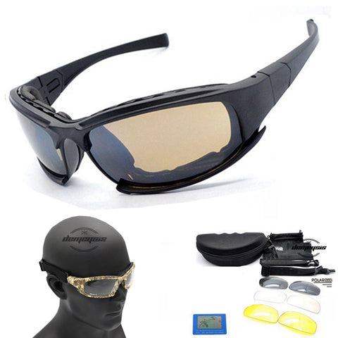 D A I S Y. X7 Polarized Sunglasses C5 Tactical Glasses Airsoft Oculos Paintball Hiking Military Goggles Hunting Shooting Eyewear - FREE SHIPPING