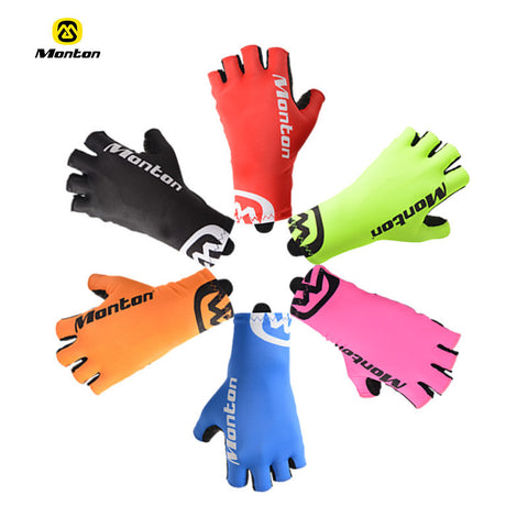 2016 Cool Unisex Cycling Gloves Half Finger Anti Slip Bike Gloves Mittens High quality Breathable S-XL 6 Colors Bicycle Gloves - FREE SHIPPING