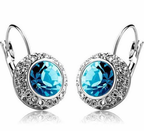Austrian Crystal Drop Earrings - FREE, pay for processing and shipping only