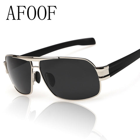 [ AFOOF ] Hot Sale Mens Polarized Sunglasses Brand Designer Men Square Driving Sun glasses Ourdoor Coating Eyewear Goggle Oculos - FREE SHIPPING