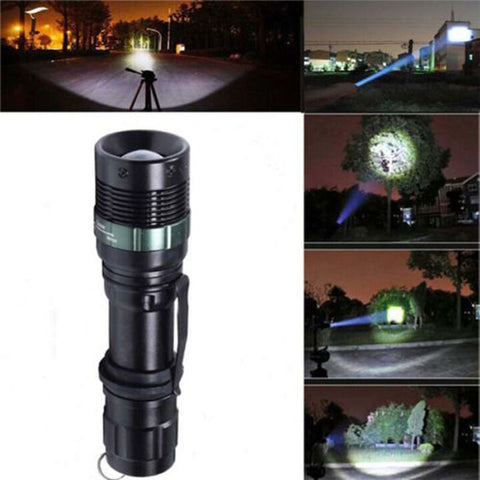 Outdoor LED Flashlight led light linternas Torch Zoom Lamp Light  3000 Lumen Zoomable CREE XM-L Q5 - FREE SHIPPING